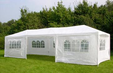 Malatec 7916 Zahradní párty stan 3 x 9 m + 8 bočních stěn bílý