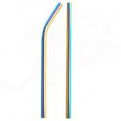 TFY No.8654 Kovové slámky barevné, 10 ks