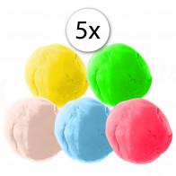 MASO Fun-ColourfulPlay88 plastelína na bázi jílu, 5ks x 60g