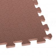 EVA Pěnový koberec 60 x 60 cm 1 ks hnědá