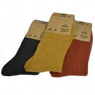LOOKeN Alpaka ZCM-W9023 Dámské teplé ponožky 35-38, cihlová, tmavě šedá, hořčicová, 3 ks