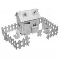 TFY 9970 Kartónový 3D domek na vymalování