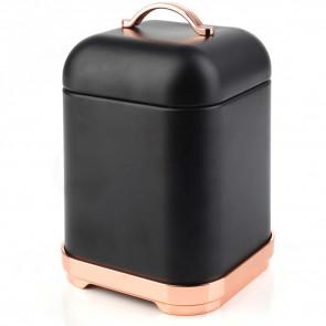 Affek design MX5463 Dóza na kávu COFFEE 1,3L kovová černá