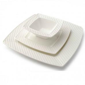 Affek Design JHA2124  Sada porcelánových tanierov 18ks hranaté