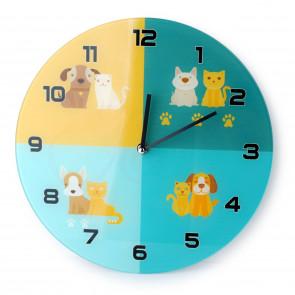 Affek design MX3973 Nástěnné hodiny modro-žluté