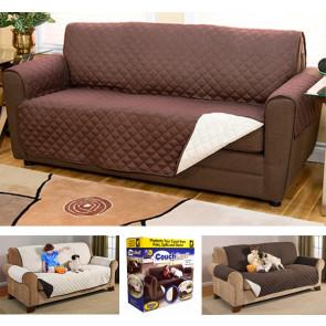CouchCoat MED5450 Potah pro psa, potah na sedačku M 125 x 175 cm, bílo - hnědý
