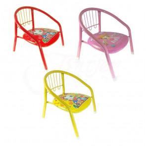 Jenifer Child-10-Pink Dětská židle s pískající podsedákem, kovová, 36x36x36cm, růžová