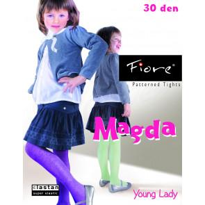 Detské vzorované pančušky, silonky MAGDA Fiore, 30 den