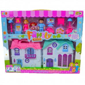 Family House FH4682 Rozkladací domček pre bábiky s príslušenstvom, 12ks
