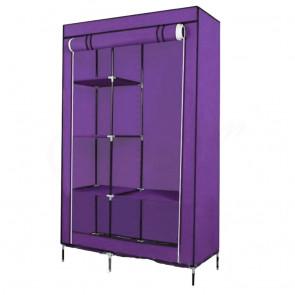 HCX 88105Y-purple Skládací šatník fialový, 105x45x175cm