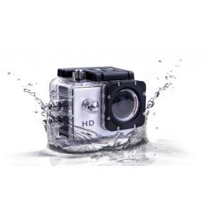CAM SL010 Vodotěsná HD kamera s wifi pro extrémní sporty, stříbrná