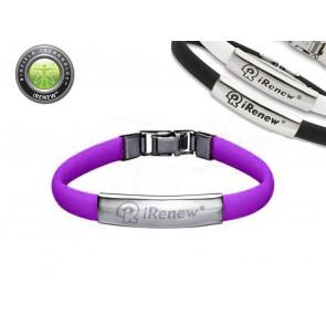 iRenew NO.802845P Balanční silikonový náramek fialový
