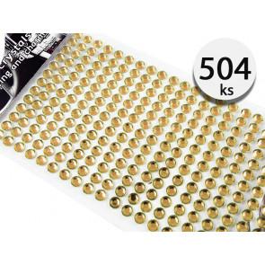 Jenifer HN.B00984 Samolepící kamínky krystaly 5mm 504 kusů, hnědé