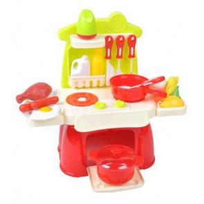 Little Chef NO.889-39 Dětská barevná, plastová kuchyňka, 22 dílů