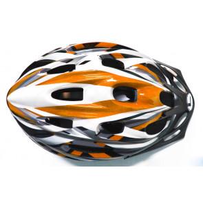 Longus ENTRY cyklistická přilba, oranžovo-bílá, XS