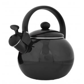ODELO, OD1259B Konvice, čajník s píšťalkou, černý