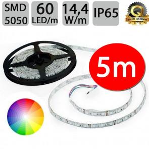 Optonica Pás-5m RGB LED pásek voděodolný 60 SMD5050 / m, 14.4W / m, IP65