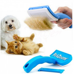 PetZoom No.5026 Jemná kartáč pro psy a kočky nastavitelná, jednostranná 10 x 5 cm