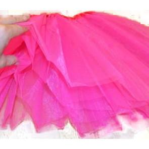 SISI 0266-cyclamen Tutu sukně pro dívky 3-vrstvá, délka 40cm