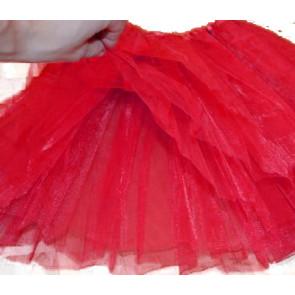 SISI 0266-red Tutu sukně pro dívky 3-vrstvá, délka 40cm