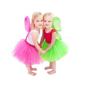 SISI 95206 Tutu sukně pro dívky 3-vrstvá, délka 30 cm, červená