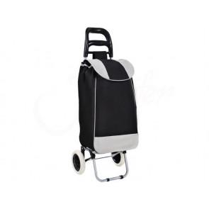 TFY 2412 Nákupní taška na kolečkách 25L, nosnost 15kg, černá