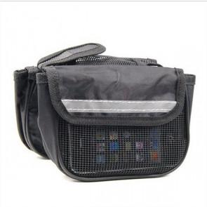 TFY Double-Bag  No.32.269 Cyklistická brašna na rám černá, 14 x 4 x 11 cm