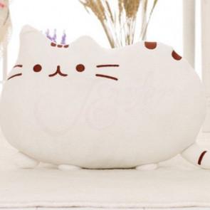 TFY Cat-01 Detský polštář zvířátko 45x30cm, bílá