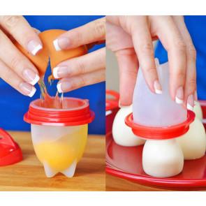 TFY No.10602 Silikonové nádobky na vajíčka, na vaření bez skořápky, 6 ks