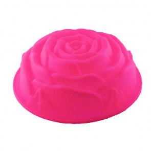 TFY SF5026 Silikonová forma na pečení bábovky růže 26x9cm, růžová