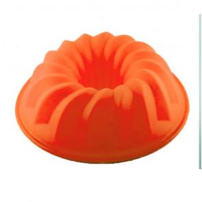 TFY SF5027 Silikonová forma na pečení bábovky  26x9cm, oranžová